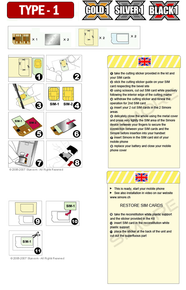 User manual dual SIM card adapter