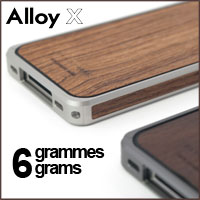 iPhone 4 and iPhone 4S case, accessories Patchworks Alloy X Wood