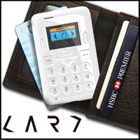 Credit card size mini mobile phone